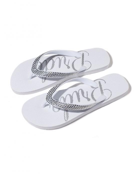 """Bride"" Crystal Flip Flops"