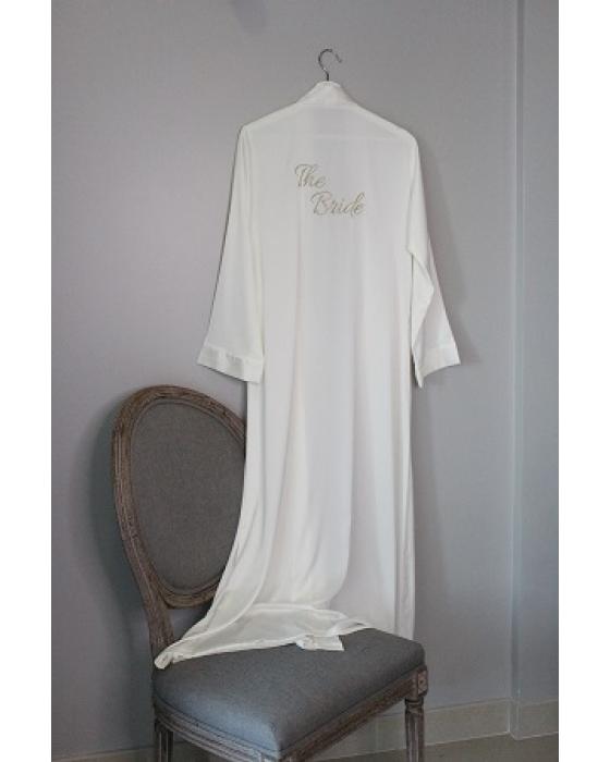 Customizable Full Length Satin Robe