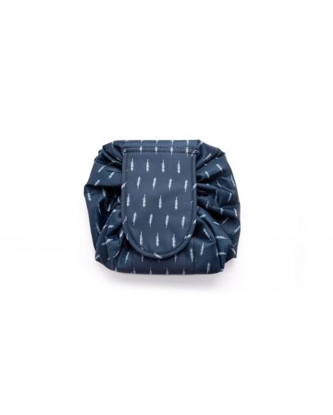 Navy Blue Drawstring Cosmetics Bag