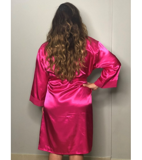 Hot Pink Satin Robe