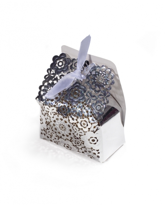 Silver Floral Box