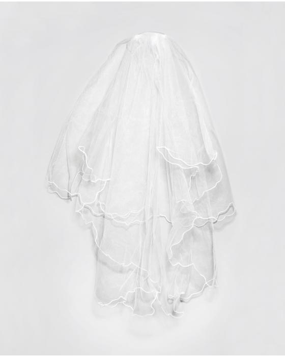 White Two-tier Elbow Length Veil