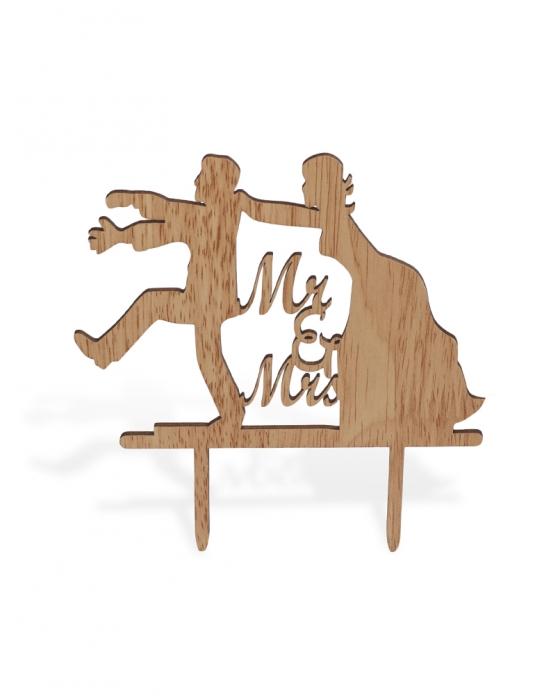 """""""Mr&Mrs"""" Funny Cake Topper"""