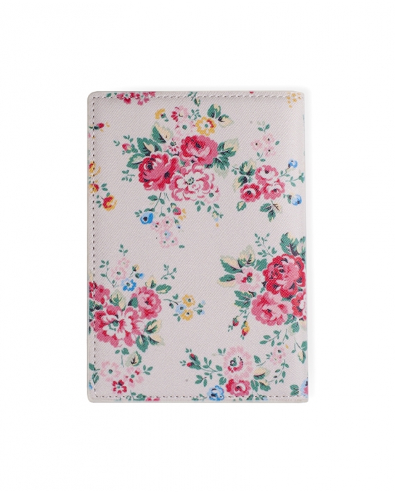 Beige Floral Passport Cover