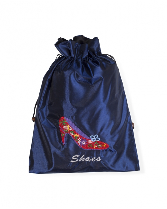Blue Travel Shoe Bag