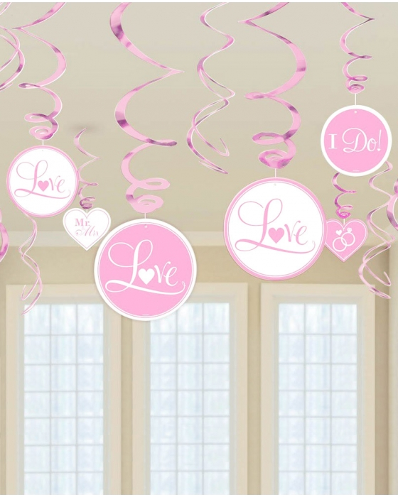 "Pink ""I Do"" Swirl Decoration"