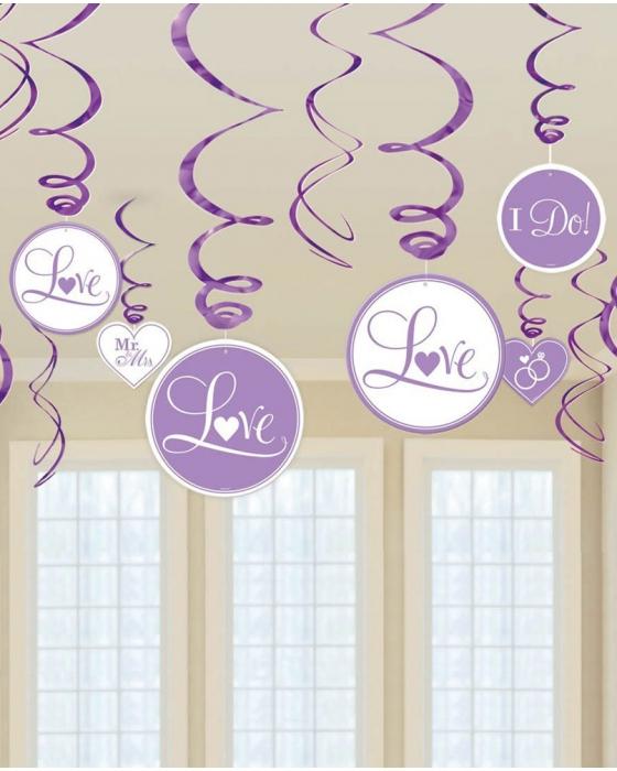 """Purple """"I Do"""" Swirl Decoration"""