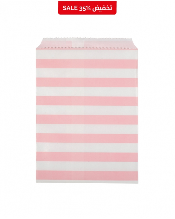 Pink and White Paper Bag