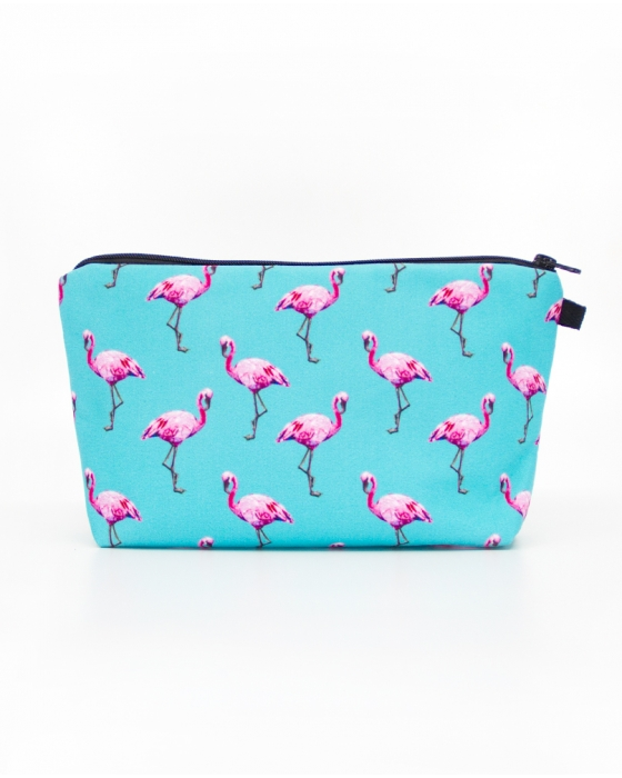 Blue Flamingo Cosmetics Pouch