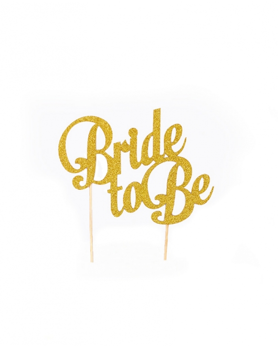"""""""Bride to Be"""" Cake Topper"""