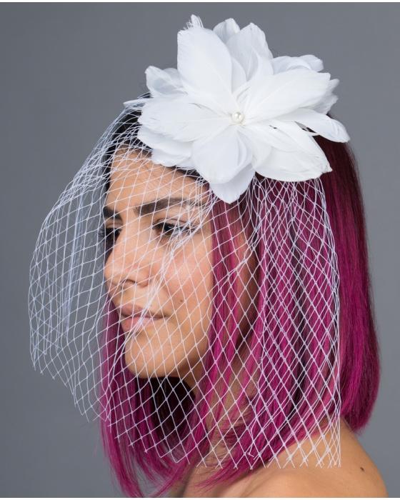 Flower & Birdcage Veil