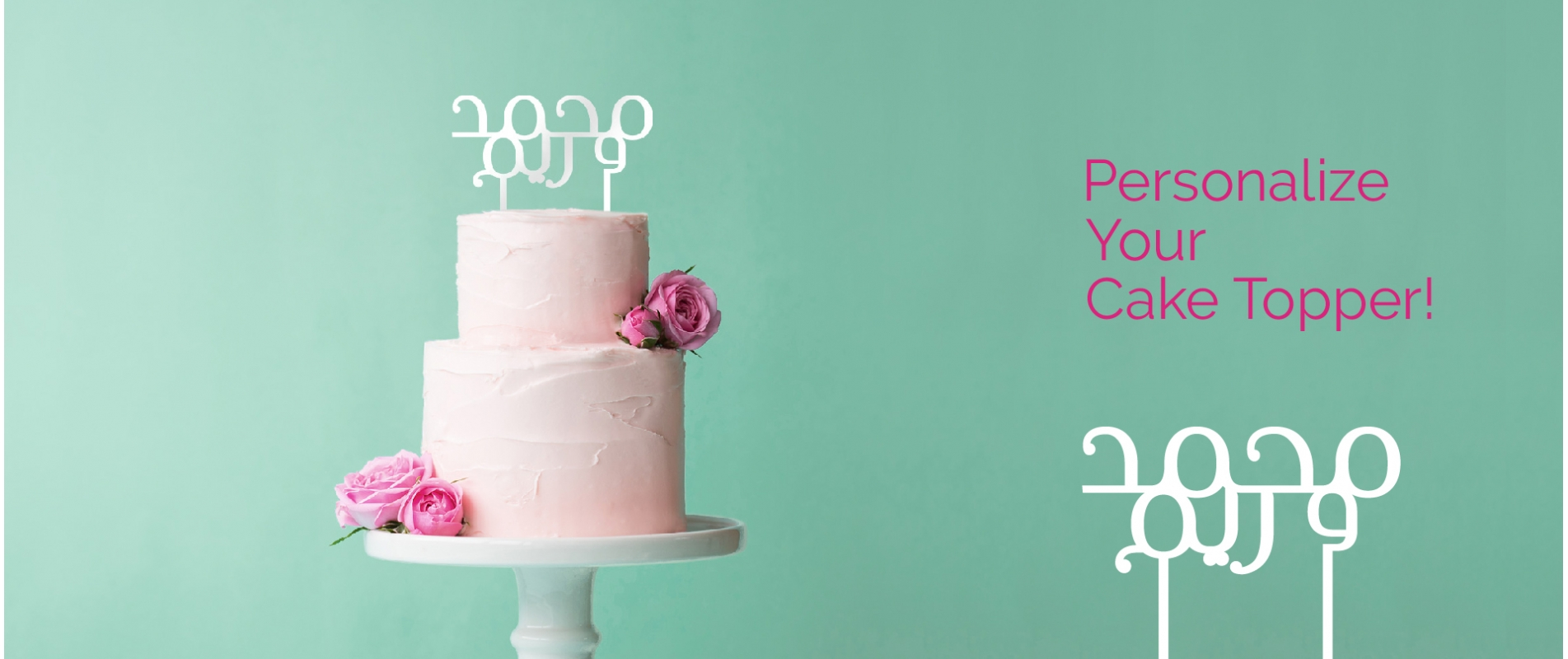 Personalize your cake topper