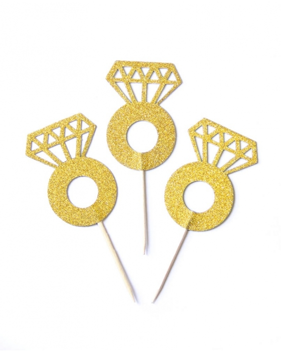 Glitter Gold Diamond Ring Picks