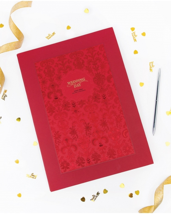Red Guest Book
