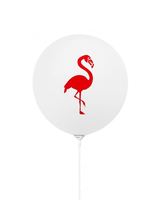 Flamingo White Balloons