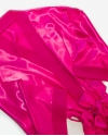 Hot Pink Sleeping Mask and Satin Robe Set