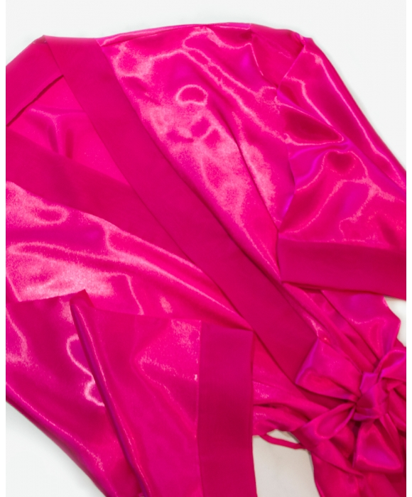 Hot Pink Sleeping Mask and Satin Robe Set (Personalized)