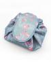 Light Blue Flamingo Drawstring Cosmetics Bag
