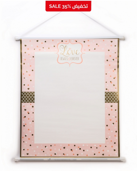 "Pink ""Love"" Sign-in Sheet"