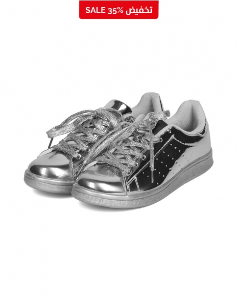Metallic Silver Sneakers