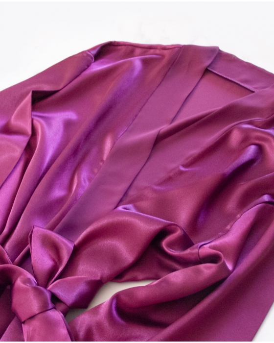 Purple Satin Robe
