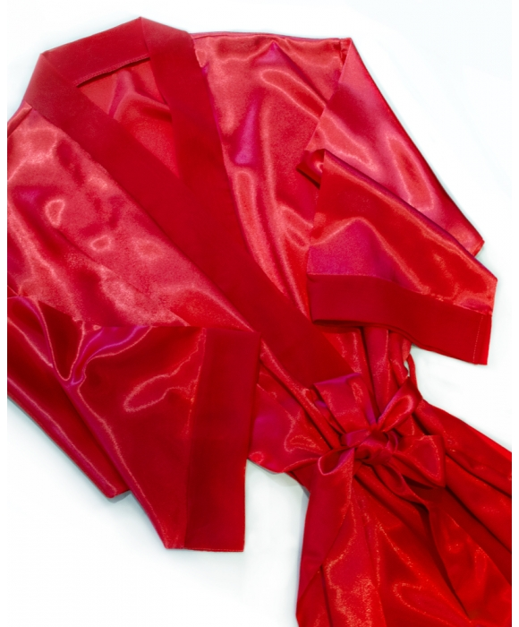 Red Satin Robe