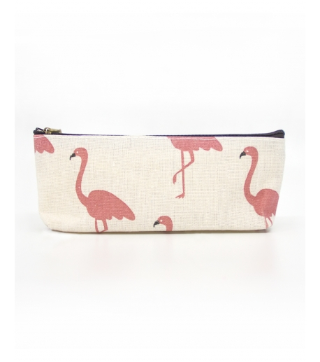 White Flamingo Makeup Pouch