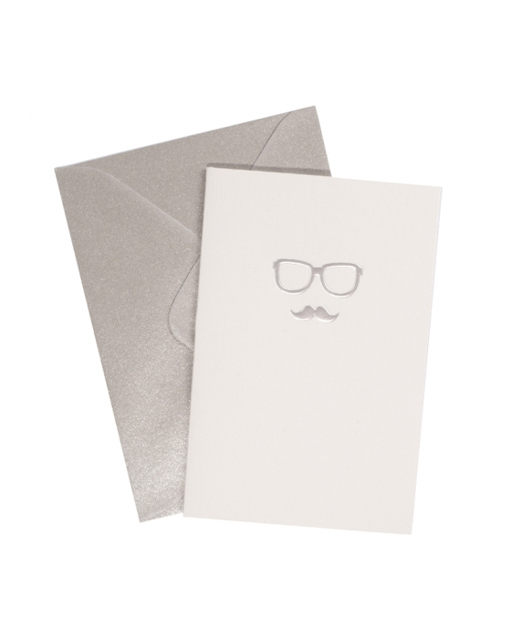 Glasses & Mustache Card