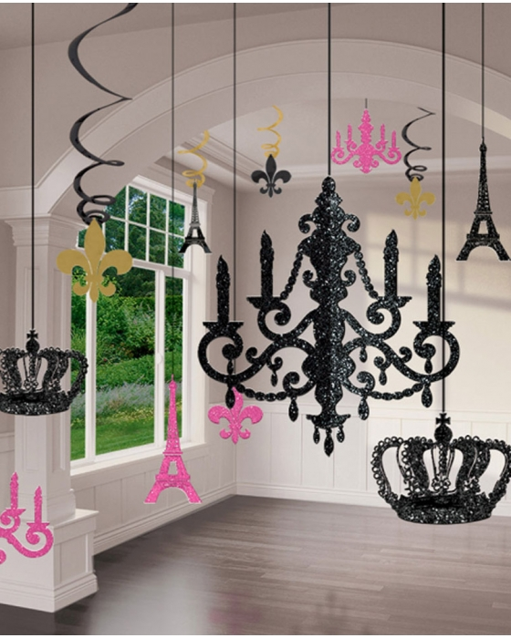 Glitter Chandelier Decorations