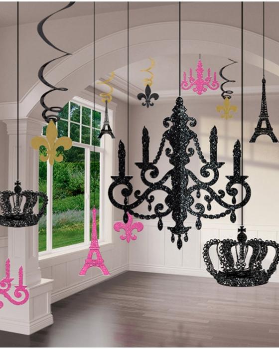 Glitter Chandelier Decorations
