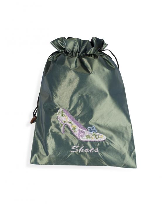 Green Travel Shoe bag