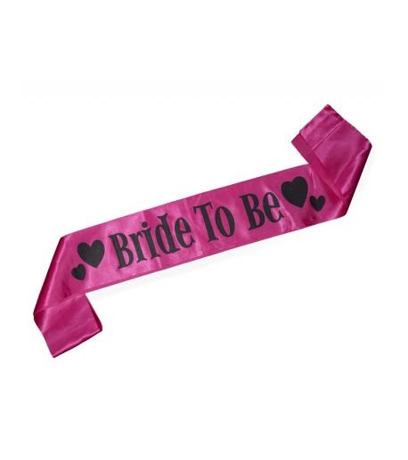 "Hot Pink ""Bride to Be"" Sash"