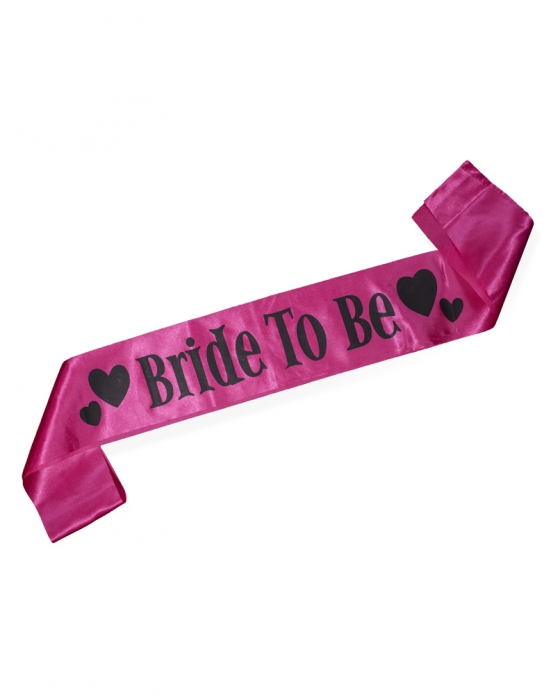 "Hot Pink ""Bride to Be"" Sash"