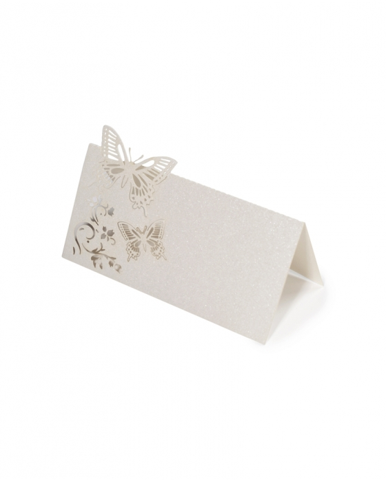 Ivory Butterfly Name Place Cards