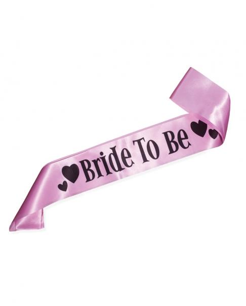 "Light Pink ""Bride to Be"" Sash"