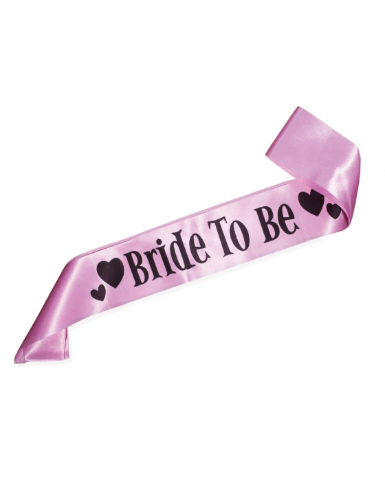 "Light Pink ""Bride to Be"" Sash"