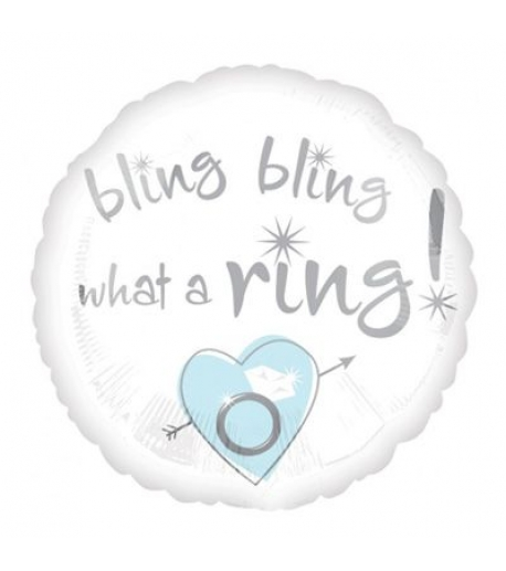 """""""bling bling what a ring"""" balloon"""