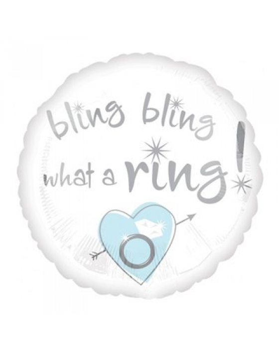 """bling bling what a ring"" balloon"