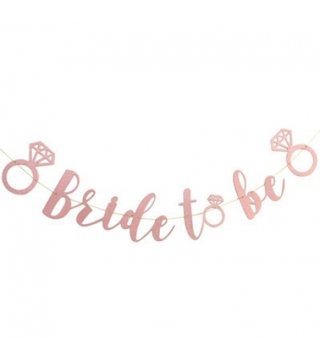 """pink glitter """"bride to be"""" banner"""