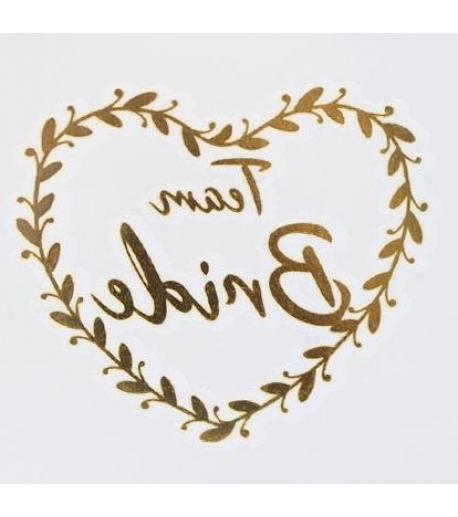 heart Team Bride tattoo