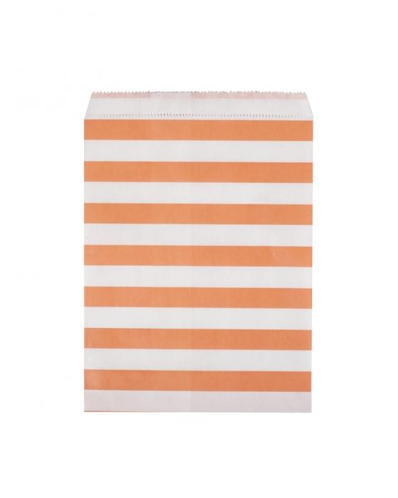 Orange and White Paper Bag