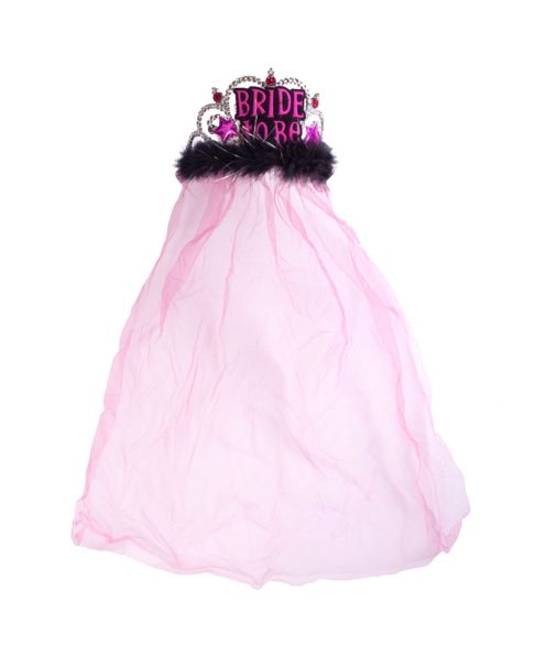 "Pink ""Bride to Be"" Veil"