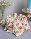 Rose Linen Bag