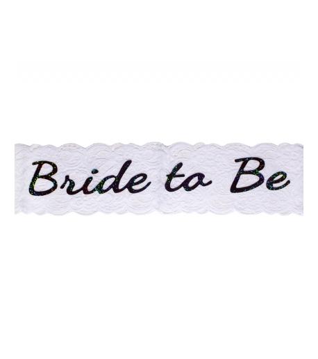 """White """"Bride To Be"""" Sash"""