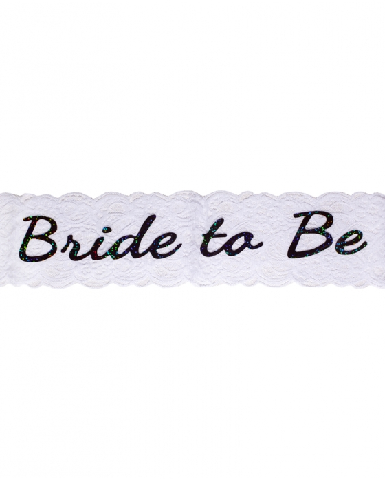 "White ""Bride To Be"" Sash"