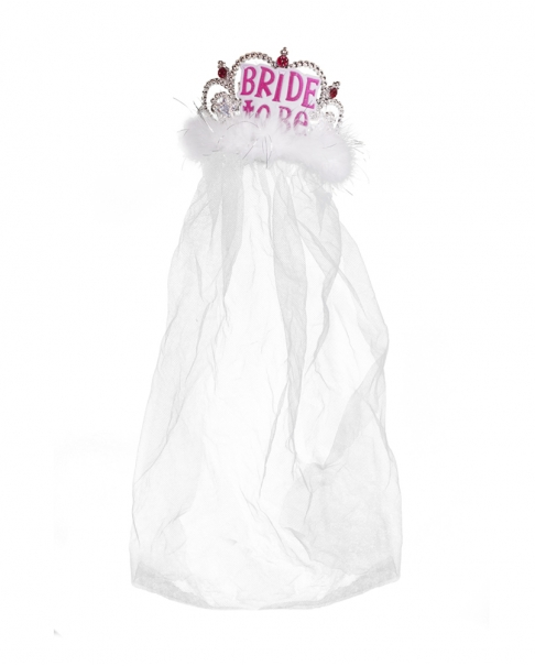 "White ""Bride to Be"" Veil"