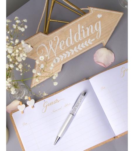 "Wooden ""Wedding"" Sign"