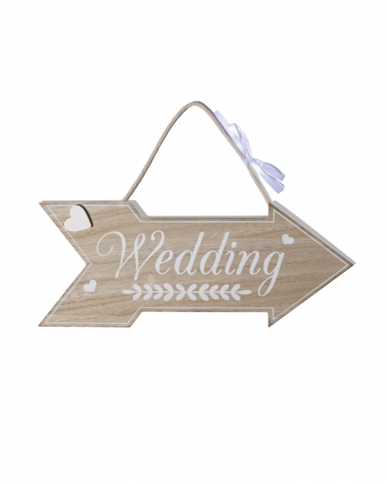 "Wooden ""Wedding"" Sign"